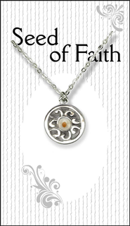 Mustard Seed Circle Necklace  -