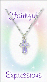 Cross Necklace Purple  -