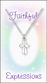 Cross Necklace White  -