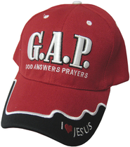 God Answers Prayers Cap Red  -