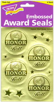 Honor Roll (Gold) Award Seals Stickers  -