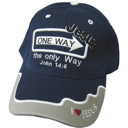One Way Jesus Cap Navy  -