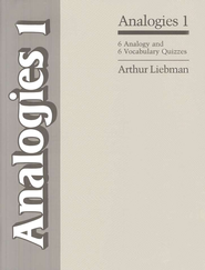 Analogies 1 - 6 Vocabulary and 6 Analogy Quizzes   -     By: Arthur Liebman