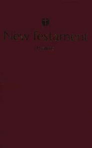 Holman Christian Standard Bible Economy New Testament with Psalms - Burgundy  -