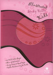HCSB Illustrated Study Bible for Kids, Pink Simulated Leather  -     By: Holman Bible Editorial Staff