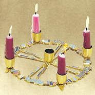 A Light Shines In The Night, Advent Wreath   -