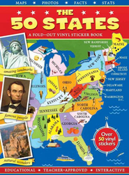 The 50 States: A Fold-out Vinyl Sticker Book    -     By: Readers Digest Staff