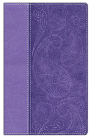 KJV, Thinline Bible, Italian Duo-Tone, Lavender  - Slightly Imperfect  -