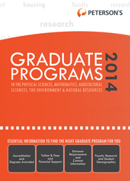 Graduate Programs in the Physical Sciences, Mathematics, Agricultural Sciences, the Environment & Natural Resources 2014 (Grad 4) - eBook  -