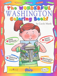 Washington Coloring Book, Grades PreK-3  -     By: Carole Marsh