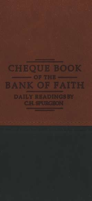 Chequebook of the Bank of Faith - Tan/Green  -