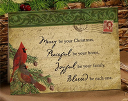 Merry, Peaceful, Joyful Christmas Card, Box of 25  -