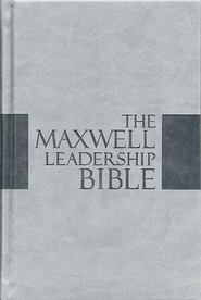 The NKJV Maxwell Leadership Bible-Briefcase Edition, Leathersoft Over Board Dove Gray - Slightly Imperfect  -
