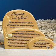 Footprints In the Sand Plaque  -