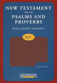 KJV New Testament with Psalms and Proverbs, imitation leather, espresso  -