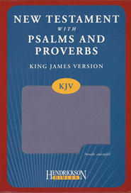 KJV New Testament with Psalms and Proverbs, imitation leather, lilac  -