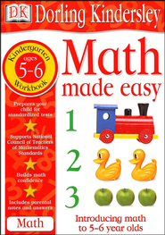 Math Made Easy: Kindergarten Workbook  -