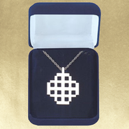 Jerusalem Cross Sterling Silver Pendant  -