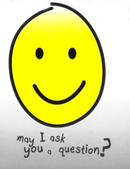 May I Ask You a Question? - Yellow Smiley Face Pack 25   -