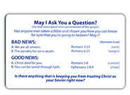 May I Ask You A Question? - Pocket Card  -