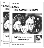 High School Government Elective: The Constitution SCORE Keys 133-136  -