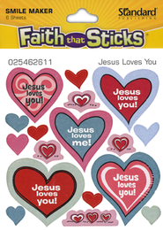 Jesus Loves You Stickers  -