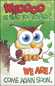 Come Again Soon, Owl Postcards, 25                        -