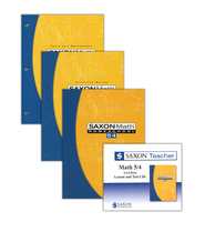 Saxon Math 5/4 Homeschool Kit & Saxon Teacher CD-ROMs, Third Edition  -