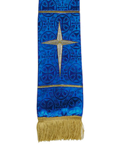 Maltese Jacquard Bookmark, Blue  -