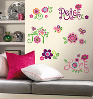 Peace Joy Love Vinyl Wall Stickers  -