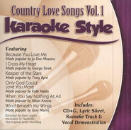 Country Love Songs, Volume 1, Karaoke Style CD   -
