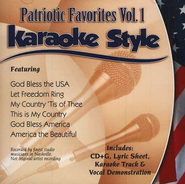 Patriotic Songs, Volume 1, Karaoke Style CD   -