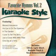 Favorite Hymns, Volume 2, Karaoke Style CD   -