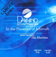 In The Presence of Jehovah, Acc CD   -     By: The Martins
