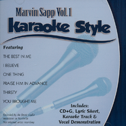 Marvin Sapp Volume 1, Karaoke Style CD   -     By: Marvin Sapp