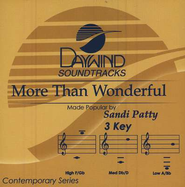 More Than Wonderful, Acc CD   -     By: Sandi Patty