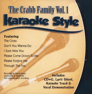 The Crabb Family, Volume 1, Karaoke Style CD   -