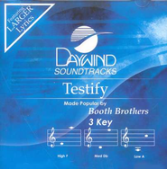 Testify, Accompaniment CD   -     By: The Booth Brothers