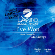 I've Won, Accompaniment CD   -     By: The McKameys