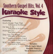 Southern Gospel Hits, Volume 4, Karaoke Style CD     -