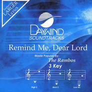 Remind Me, Dear Lord, Acc CD   -     By: The Rambos