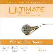 We Are The Reason - Low key performance track w/o background vocals  [Music Download] -     By: Avalon