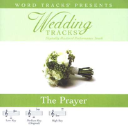 The Prayer - Medium key performance track w/o background vocals  [Music Download] -