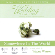 Wedding Tracks - Somewhere In The World - as made popular by Wayne Watson [Performance Track]  [Music Download] -     By: Wayne Watson