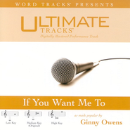 If You Want Me To - Medium key performance track w/o background vocals  [Music Download] -     By: Ginny Owens