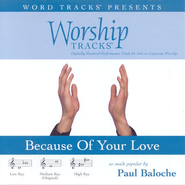 Because Of Your Love - Medium key performance track w/o background vocals  [Music Download] -