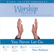 You Never Let Go - Medium key performance track w/ background vocals  [Music Download] -