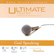 Ultimate Tracks - God Speaking - as made popular by Mandisa [Performance Track]  [Music Download] -     By: Mandisa