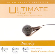 Remedy - Low Key Performance Track w/o Background Vocals  [Music Download] -     By: David Crowder Band