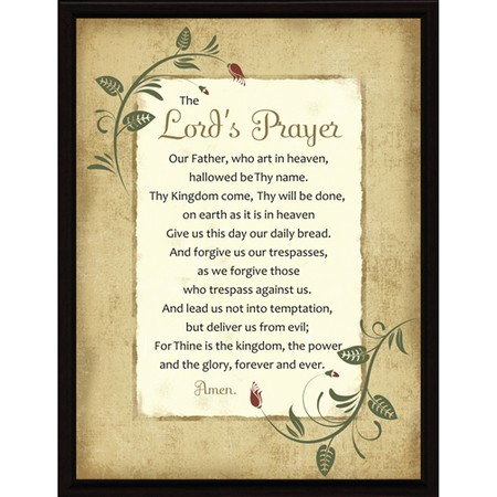 The Lord Prayer Plaque
